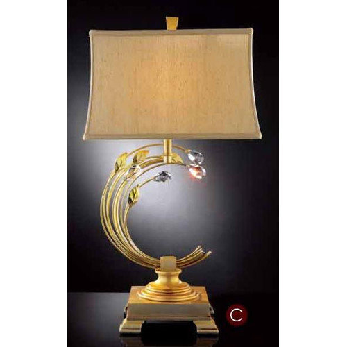 OK Lighting 29.5'' H Table Lamp with Rectangular Shade