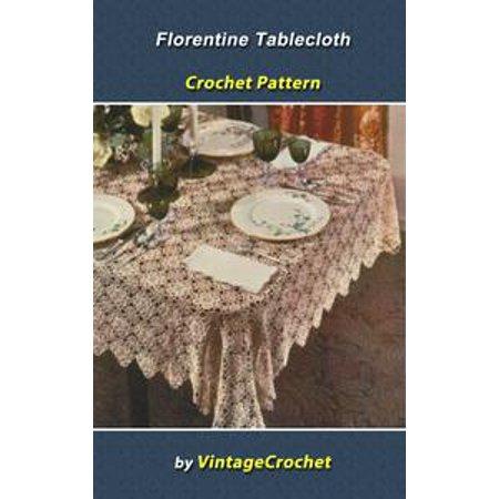 Florentine Tablecloth Crochet Pattern - eBook