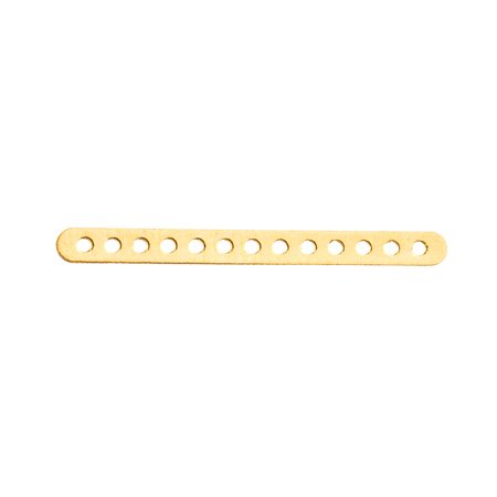 Spacer Bars Cast - 20pcs Gold Finished 13-Hole Flat Beads Spacer Bar 28x2.5mm