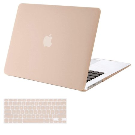 free shipping 55ba3 1b565 Mosiso Plastic Hard Cover Case for MacBook Air 13 inch No Touch ID (Models:  A1369 &A1466,2010-2017)With Keyboard Cover,Camel
