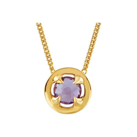 Jewels By Lux 18K Vermeil Amethyst 16-18