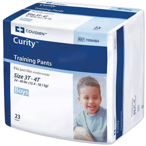 Curity Boys Training Pants, 3T-4T, 23 count