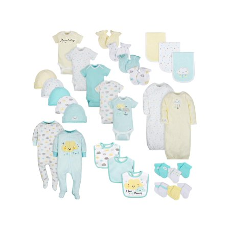Gerber Layette Essentials Baby Shower Gift Set, 30pc (Baby Boys or Baby Girls, Unisex) (Gerber Seat)
