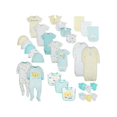 Gerber Layette Essentials Baby Shower Gift Set, 30pc (Baby Boys or Baby Girls, Unisex)