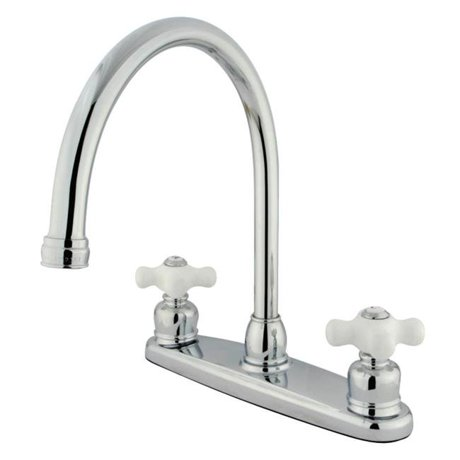 Kingston brass kb721pxls gooseneck kitchen faucet with for Kitchen faucet recommendations