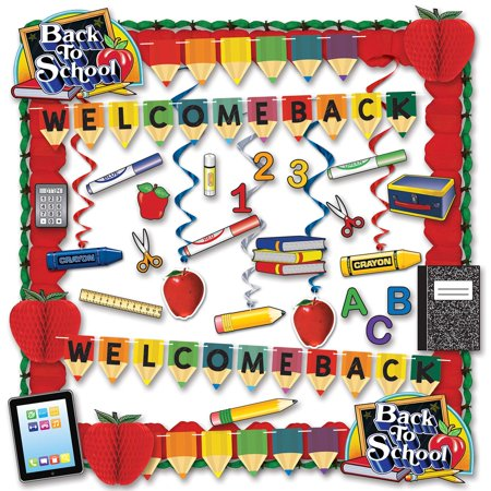 Welcome Back to School Teacher's Decorating Kit - 36 Pieces