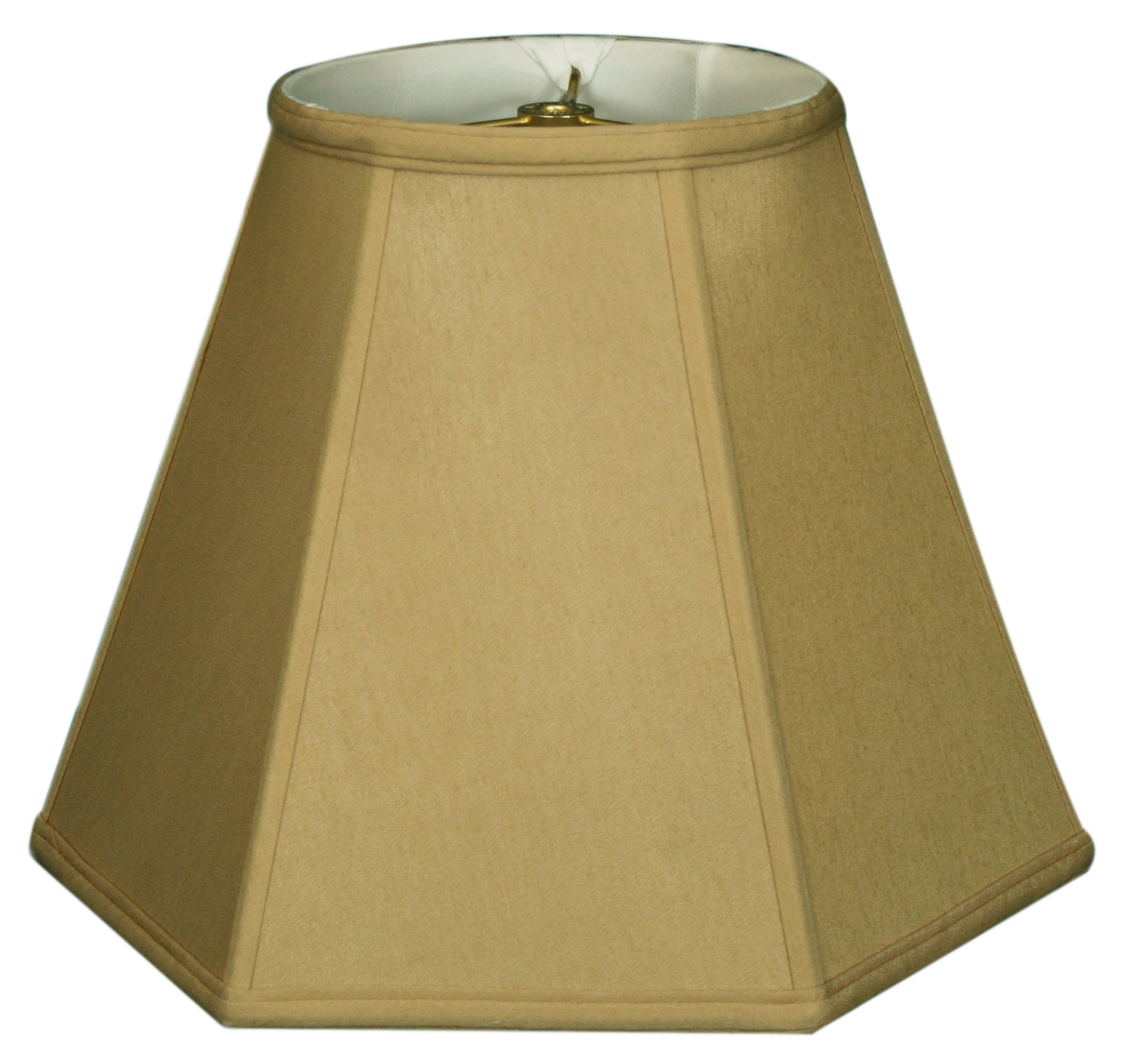 "Royal Designs 18"" Hexagon Lamp Shade Antique Gold"
