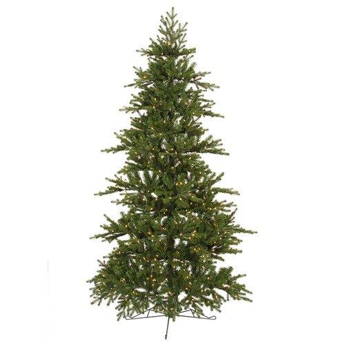 Vickerman Co. Jersey Frasier Fir 6.5' Artificial Half-tree Christmas Tree with Italian Clear LED Lights