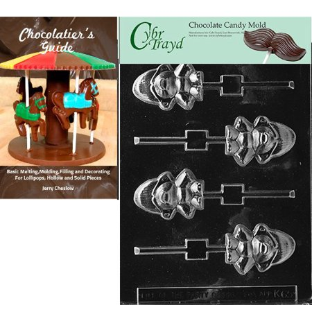 Cybrtrayd Small Monster Baby Lolly Chocolate Candy Mold with Our Chocolatier's Guide Instructions Manual - Monster Candy