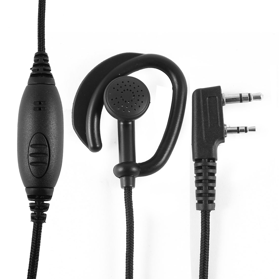 Unique Bargains Walkie Talkie Headset Earphone for Kenwood TK 208 308 TH K4AT D72E F6A HYT TC500