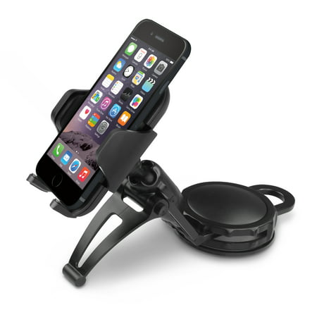 Macally Dashboard Car Phone Holder Mount with Super Strong Dash Suction Cup for iPhone XS XS Max XR X 8 Plus 7 7 Plus 6s Plus 6s 6 5S 5 SE Samsung Galaxy S9 S9+ S8 Plus S8 Edge S7 S6 Note etc