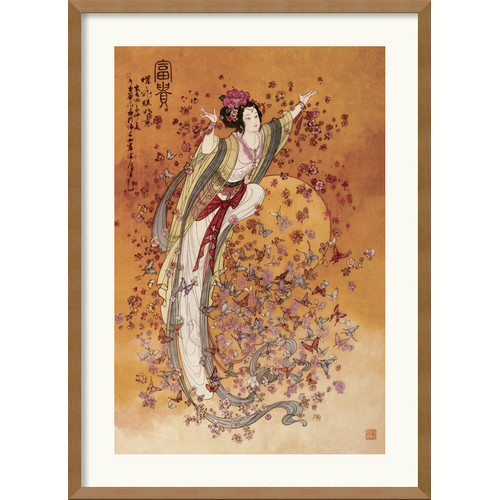 Amanti Art 'Goddess of Wealth' Framed Painting Print