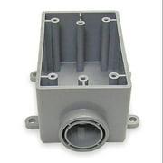 CANTEX Weatherproof Electrical Box,  1-Gang,  1-Inlet,  PVC 5133363