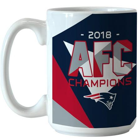 New England Patriots 2018 AFC Champions 15oz. Sublimated Mug - No Size