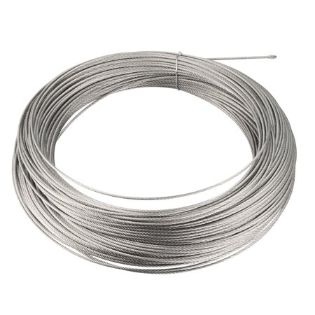 Stainless Steel Wire Rope Cable 1.2mmx53m 18 Ga. Hoist Lift Grinder on austenitic stainless steel, tool steel, stainless steel wire management, carbon steel, stainless steel outlet, bessemer process, weathering steel, stainless steel piping, stainless steel ceiling, stainless steel connectors, stainless steel guy wire, stainless steel components, cold-formed steel, stainless steel braided lines, stainless steel fittings, stainless steel battery, alloy steel, stainless steel plug cap, stainless steel panels, stainless steel harness, stainless steel metal roof, stainless steel brakes, stainless steel plumbing, stainless steel adapters, martensitic stainless steel, stainless steel soap, maraging steel, polyvinyl chloride, stainless steel resistors, stainless steel cable hangers, stainless steel paint job, surgical stainless steel,