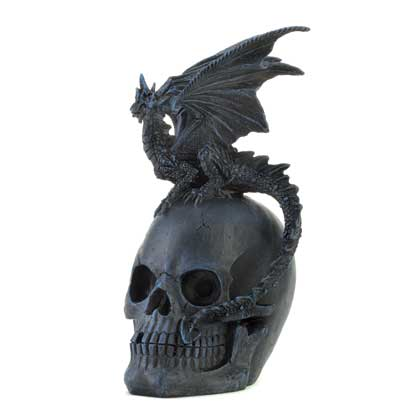 Home Locomotion Gothic Dragon And Skull Statue by Home Locomotion