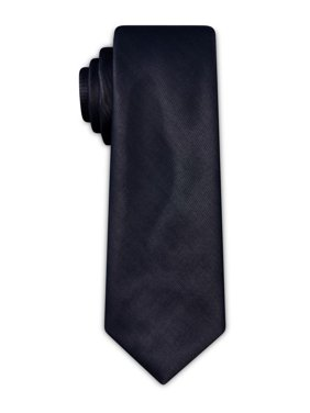 Tallia Mens Metallic Slim Neck Tie Gray O/S