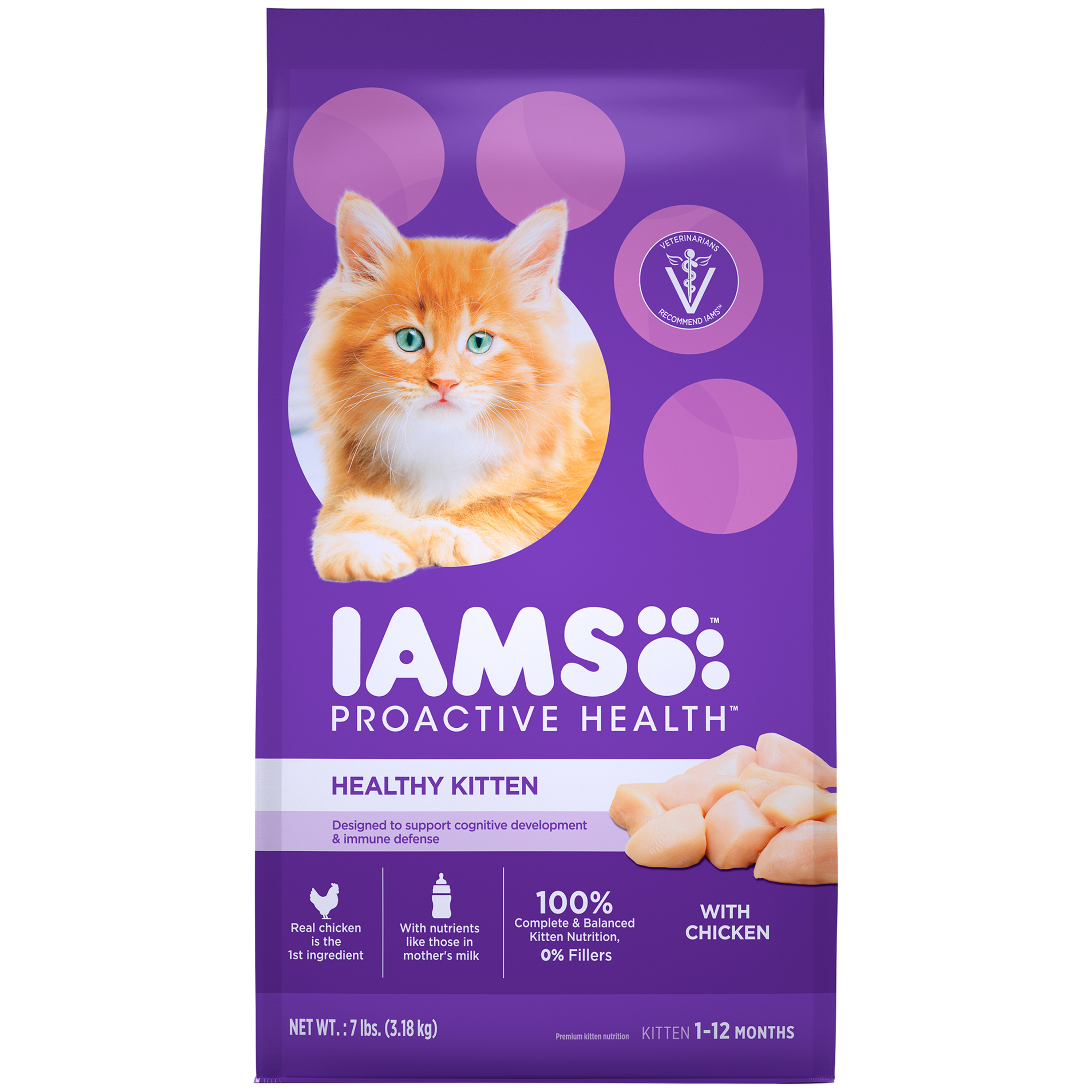 Iams Proactive Health Healthy Kitten With Chicken Dry Cat Food, 7 Lb