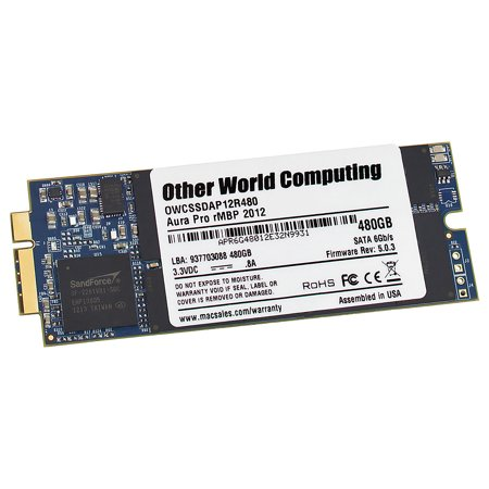 480GB OWC Aura Pro 6G Solid State Disk for 2012 MacBook Pro with Retina