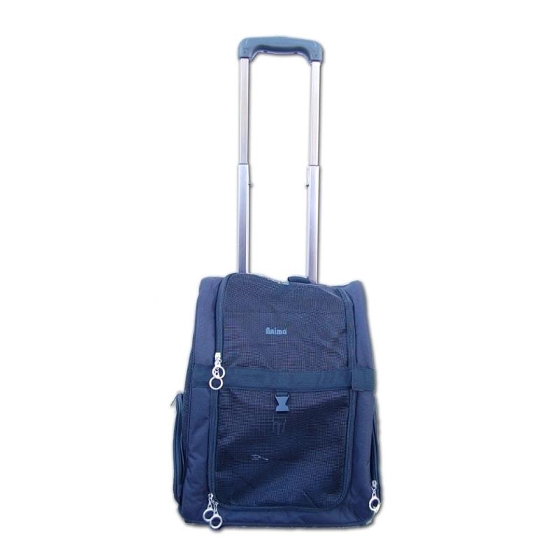ANIMA  Pet Carrier Dog Rolling Backpack Travel Airline Wheel Luggage Bag Stroller