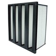 AIR HANDLER V-Bank Filter,W/Gasket,24x24x12,MERV 16 33E935