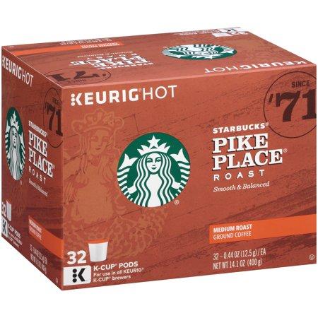 Starbucks® Pike Place Roast Medium Roast Ground Coffee K-Cups 32 ct Box