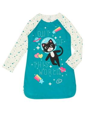 Wonder Nation Space Cat Night Gown (Little Girls & Big Girls)