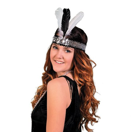 IN-13628360 Roaring '20s Feathered Headpiece (20s Headpiece)
