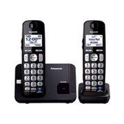 Panasonic KX-TGE212B - Cordless phone with caller ID/call waiting - DECT 6.0 Plus - 3-way call capability - black + additional handset