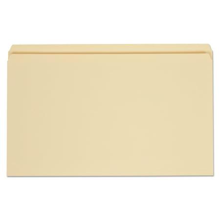 Universal File Folders, Straight Cut, One-Ply Top Tab, Legal, Manila, 100/Box -