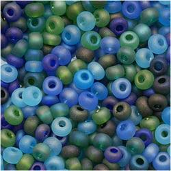 Czech Seed Beads 8/0 Matte Oceanic AB (1 ounce)
