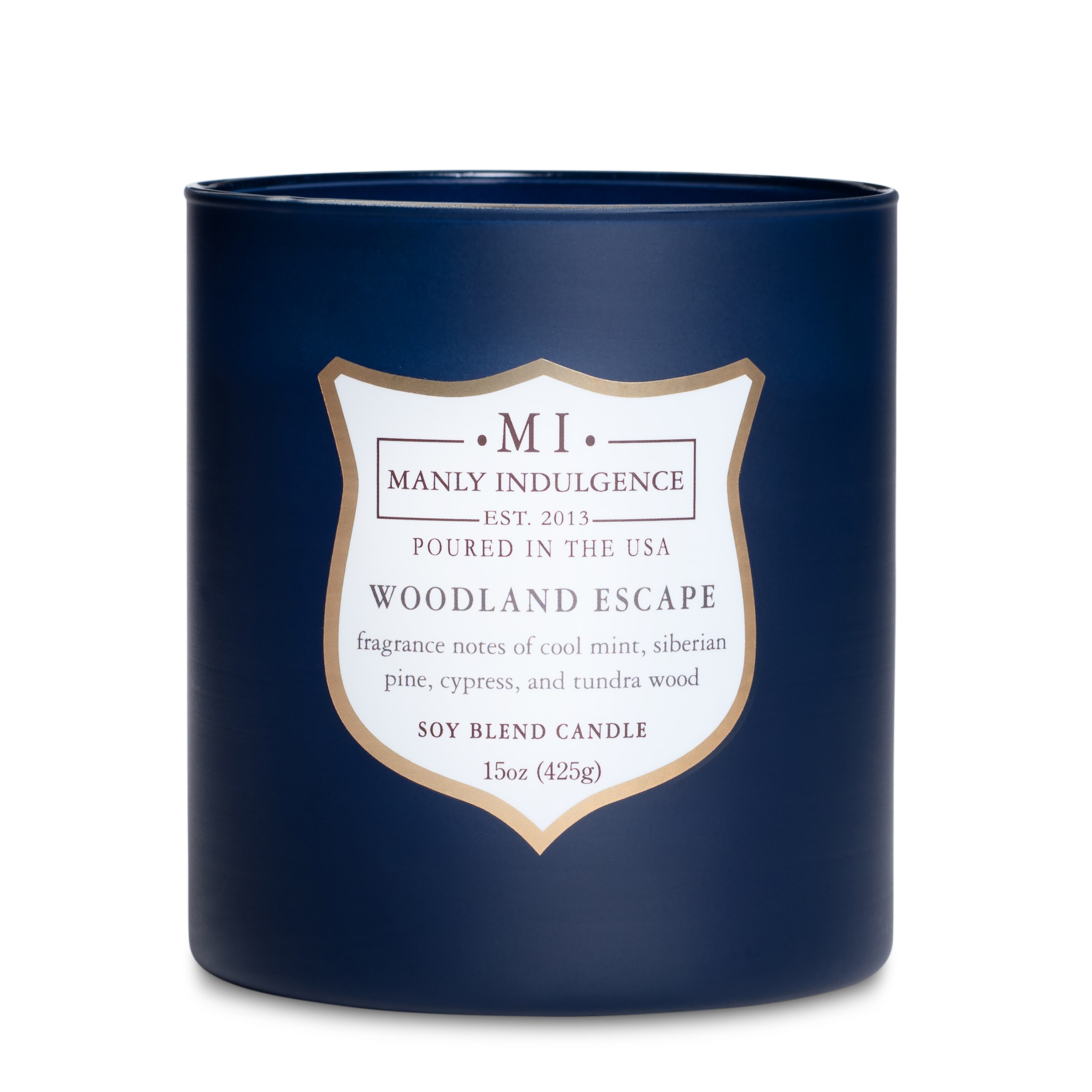 Manly Indulgence Woodland Escape 15 Oz Scented Candle Wooden Wick Walmart Com Walmart Com