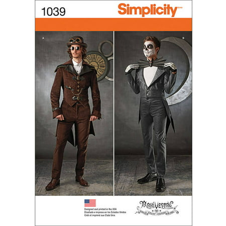 Cosplay Costumes Men (Simplicity Mens' Size 46-52 Cosplay Costume Pattern, 1)