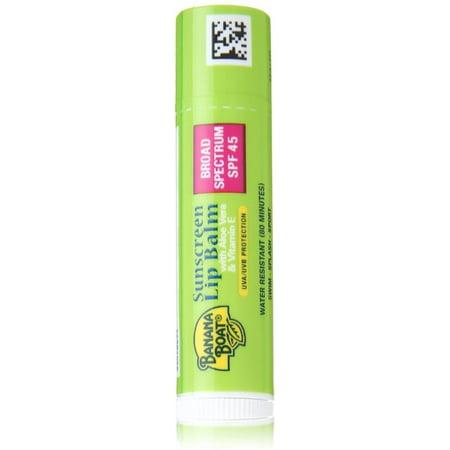 Banana Boat Sunscreen Lip Balm Aloe Vera With Vitamin E SPF 45 0.15 oz (Banana With Dreads)