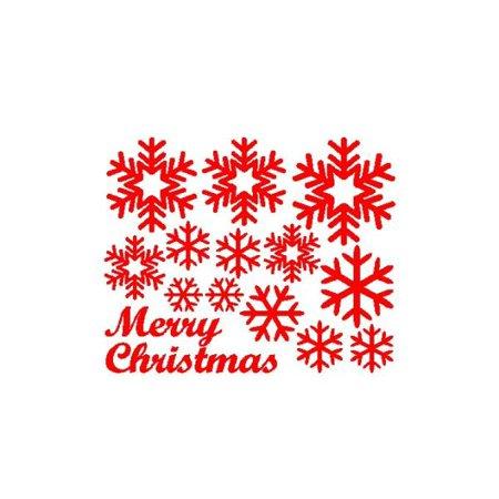 Christmas Vinyl Decals.Huppin S Hot Sale Xmas Wall Window Stickers Snowflake Christmas Vinyl Art Decoration Mural Decals