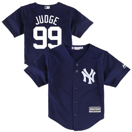 info for 4e291 263f8 Aaron Judge New York Yankees Majestic Toddler Cool Base Player Jersey - Navy
