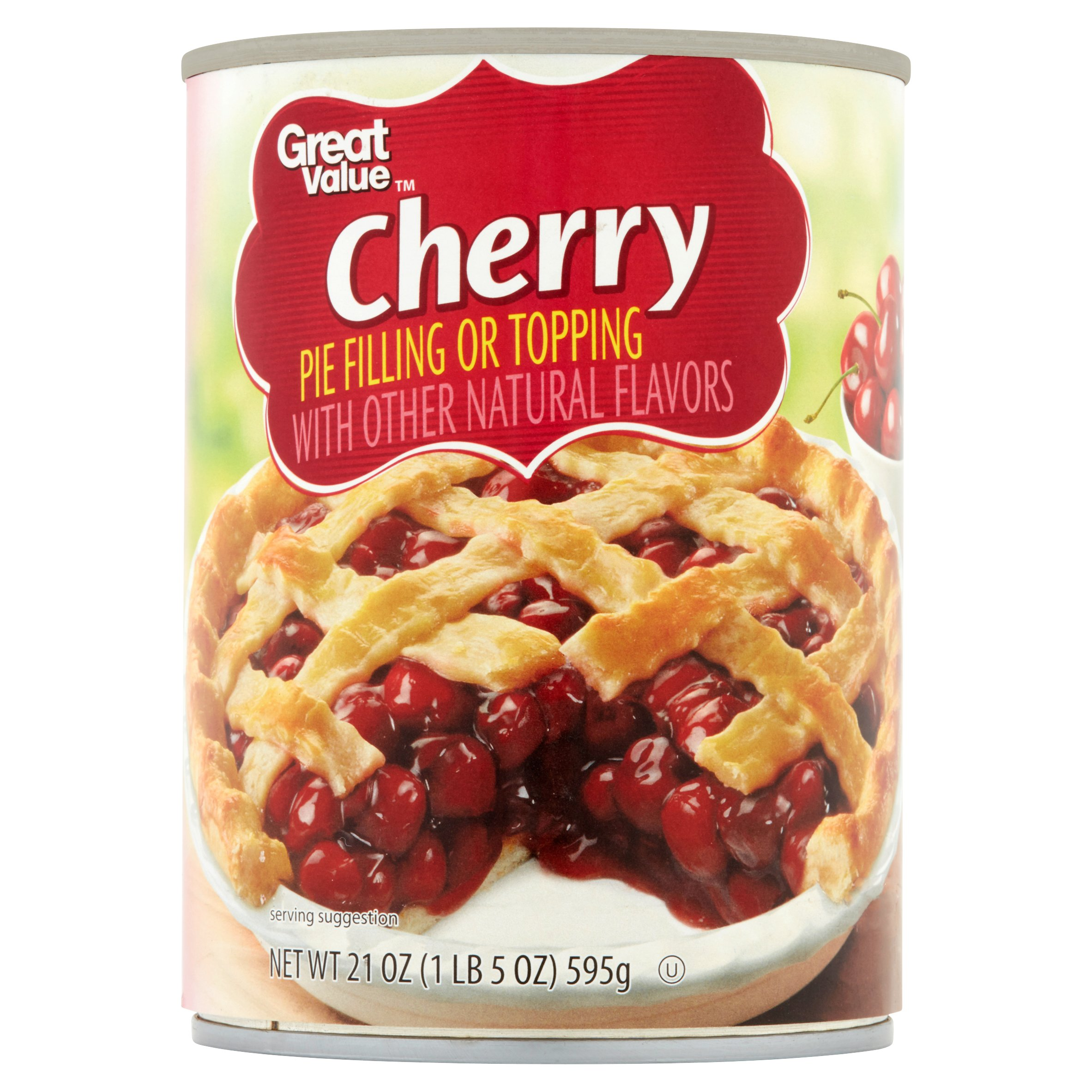Great Value Pie Filling or Topping, Cherry, 21 oz by Wal-Mart Stores, Inc.