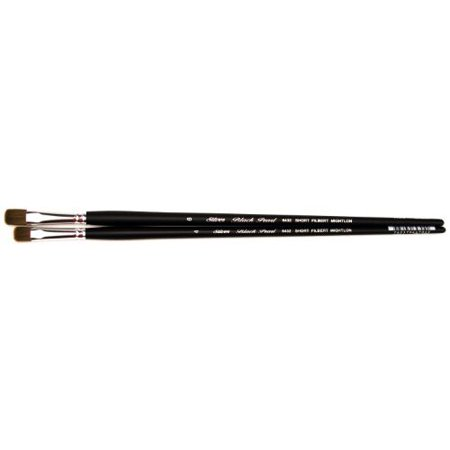 SILVER BRUSH LIMITED 64326 BLACK PEARL MIGHTLON SYNTHETIC LONG HANDLE SHORT FILBERT 6