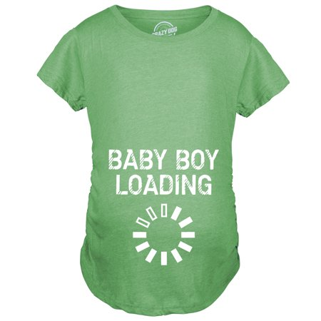 Maternity Baby Boy Loading Funny Nerdy Pregnancy Announcement T shirt - Funny Pregnant T-shirt