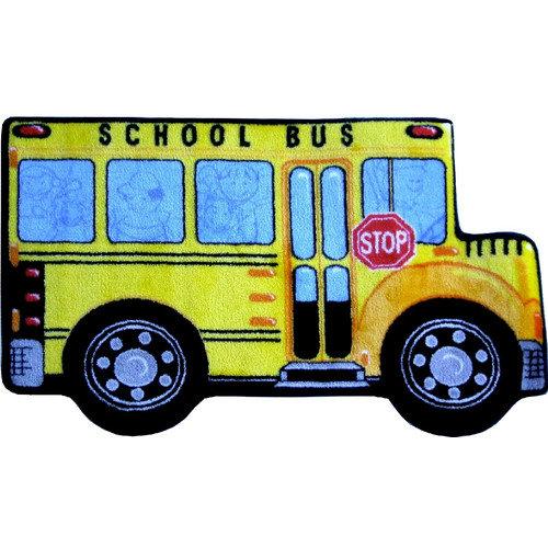 Fun Rugs Fun Shape High Pile School Bus Area Rug