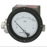 MIDWEST INSTRUMENT 240-SC-02-O(JAA)-100H Pressure Gauge,0 to 100 In H2O