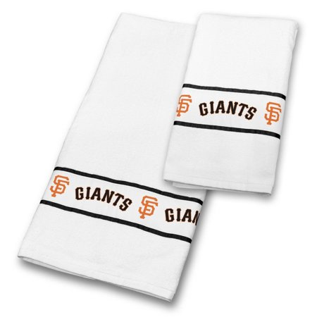 MLB San Francisco Giants 2PC White Bath Towel Set, 30 x 54