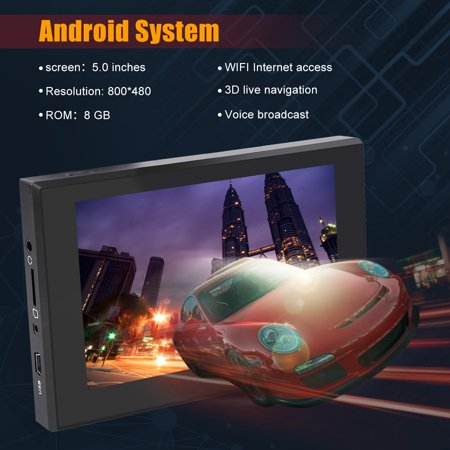 NEW 5 inch GPS Navigation WIFI Android system Dual Map 3D Voice Broadcast Capacitive screen Resolution 800*480 - image 7 de 10