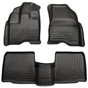 HUSKYLINER 98701 Rubber Floor Liner, Black - 2010-2015 Ford Taurus