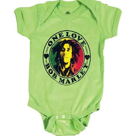 77da04e836ec Ill Rock Merch - Bob Marley One Love Heart Infant Baby Romper T ...