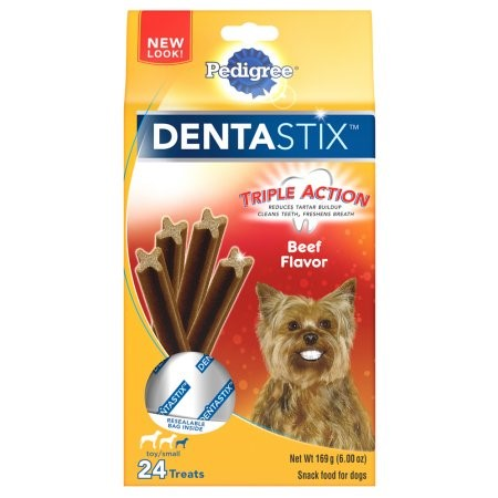 Pedigree DentaStix Beef Flavor Toy Small Breed Chews Dog Treat, 24 ct by Mars Petcare