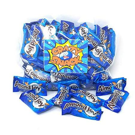 Almond Joy Snack Size Bar, Milk Chocolate, Coconut & Almond Candy, 4 pounds bag](Candy Bar Bags)