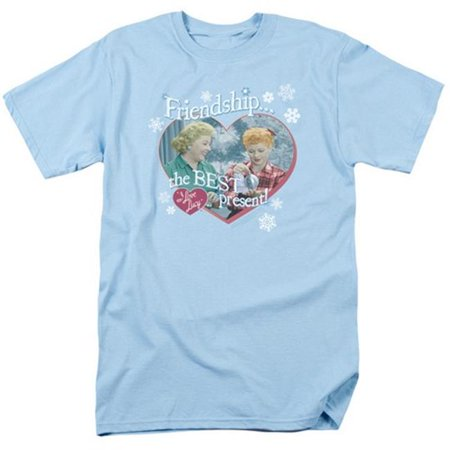Trevco Lucy-The Best Present Short Sleeve Adult 18-1 Tee, Light Blue -