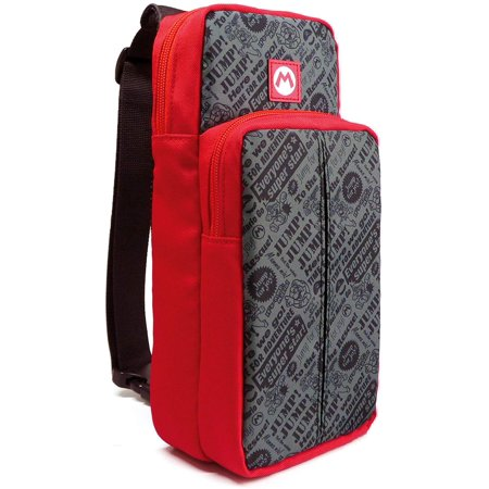 HORI Nintendo Switch Go Pack Sling Bag Shoulder Pack Officially Licensed By Nintendo - Mario (Hori Amiibo Card Folio Officially Licensed By Nintendo)