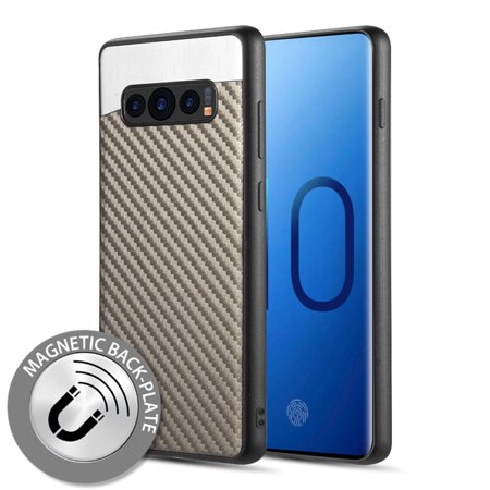 Samsung Galaxy S10 Case, by Insten Carbon Metallic Fusion TPU Rubber Candy Skin Case Cover For Samsung Galaxy S10, Gray - image 6 de 6